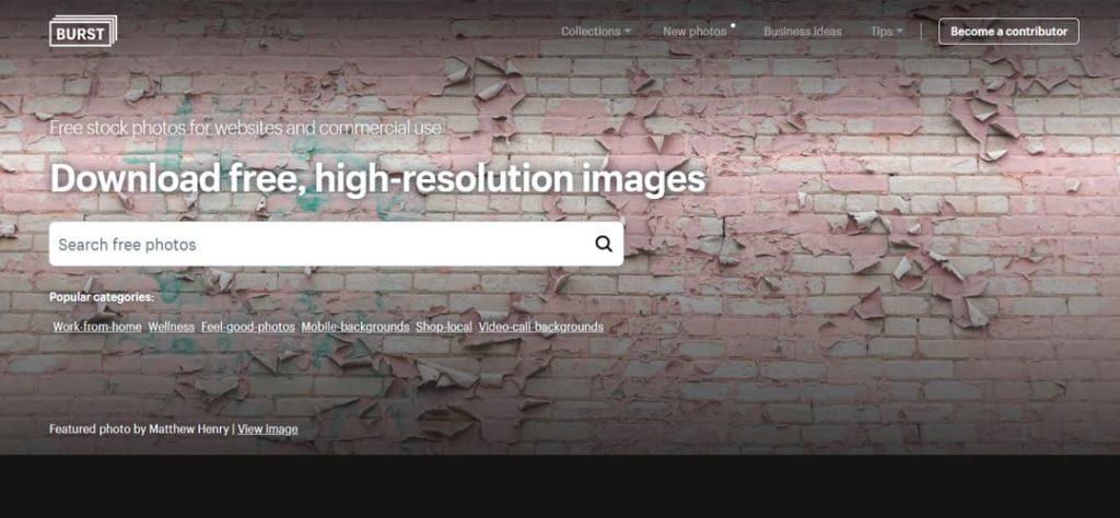 Burst imágenes sin registro