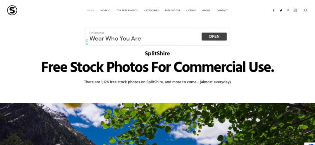 SplitShire  imágenes de stock