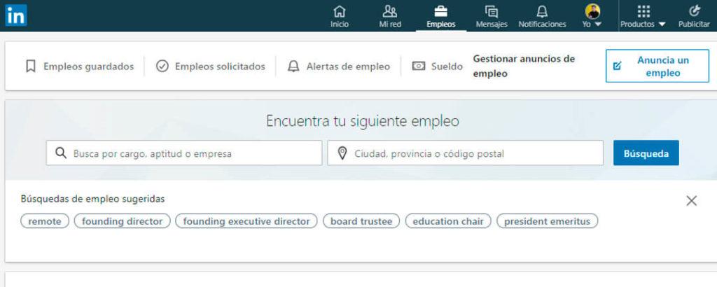 linkedin-jobs trabajos desde casa