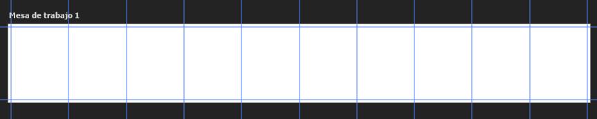 Pantalla mesa de trabajo con guías de 10 columnas