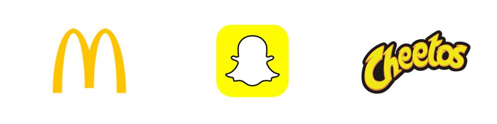 Logotipos: Macdonald, Snapchat, Cheetos
