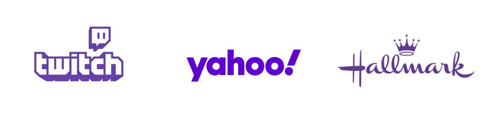 Logotipos: Twitch, Yahoo, Hallmark