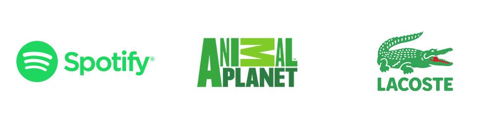 Logotipos: Spotify, Animal Planet, Lacoste