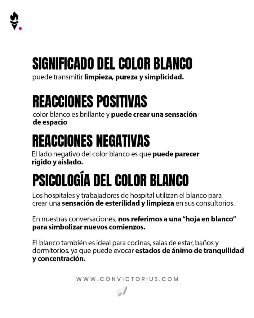 Infografía del color blanco