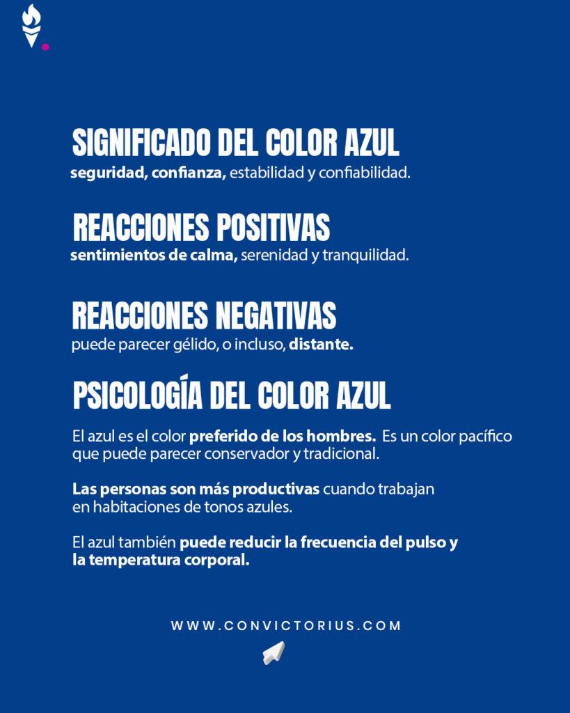 Infografía del color azul