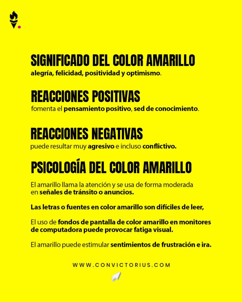 Infografía del color amarillo