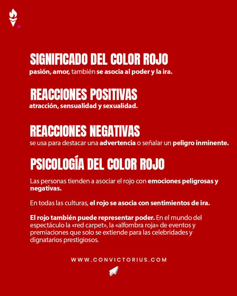 Infografía del color rojo