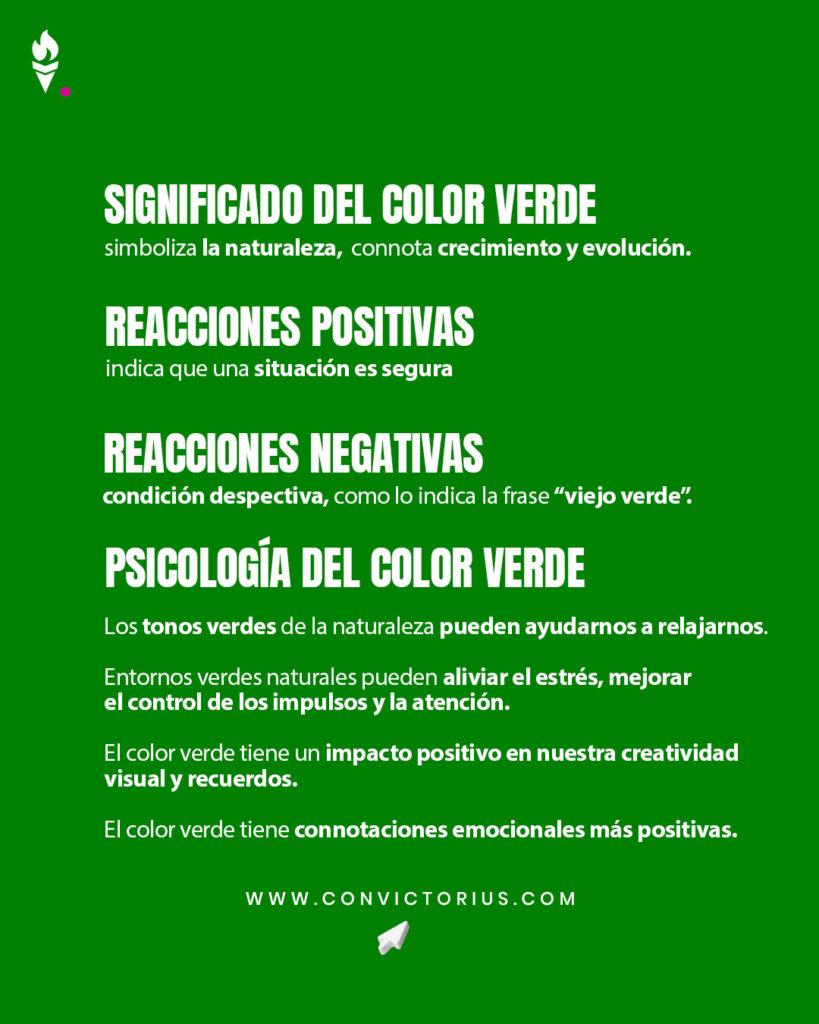 Infografía del color verde