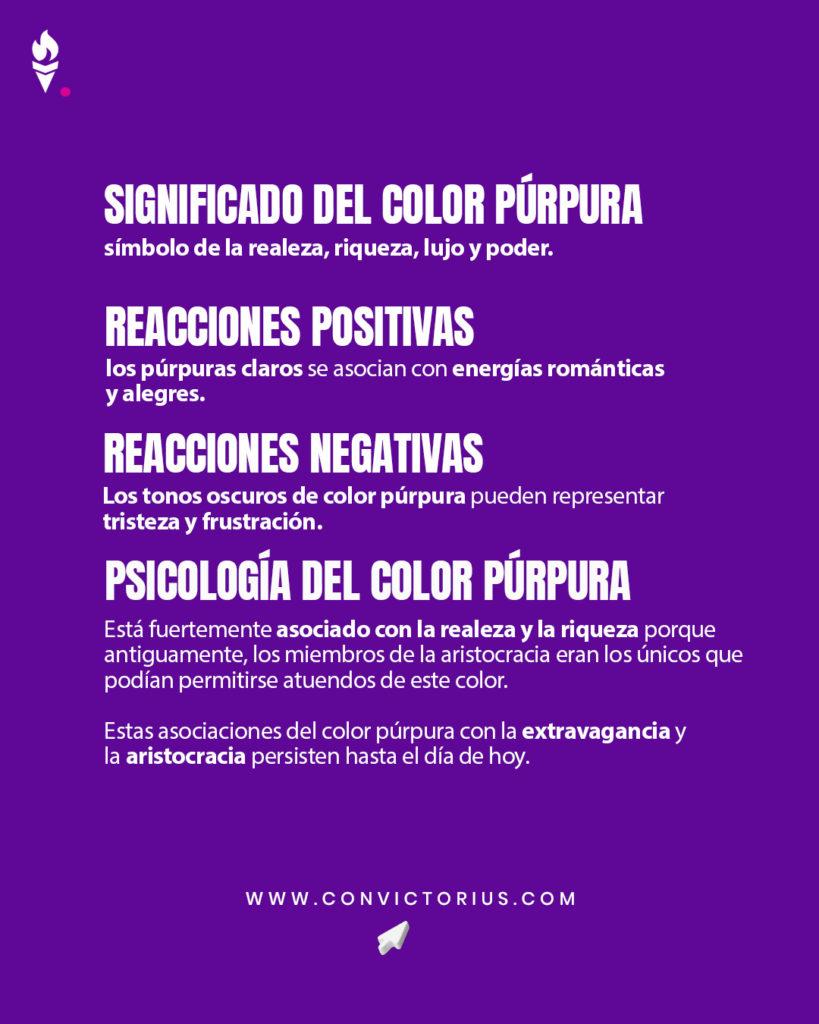 Infografía del color púrpura