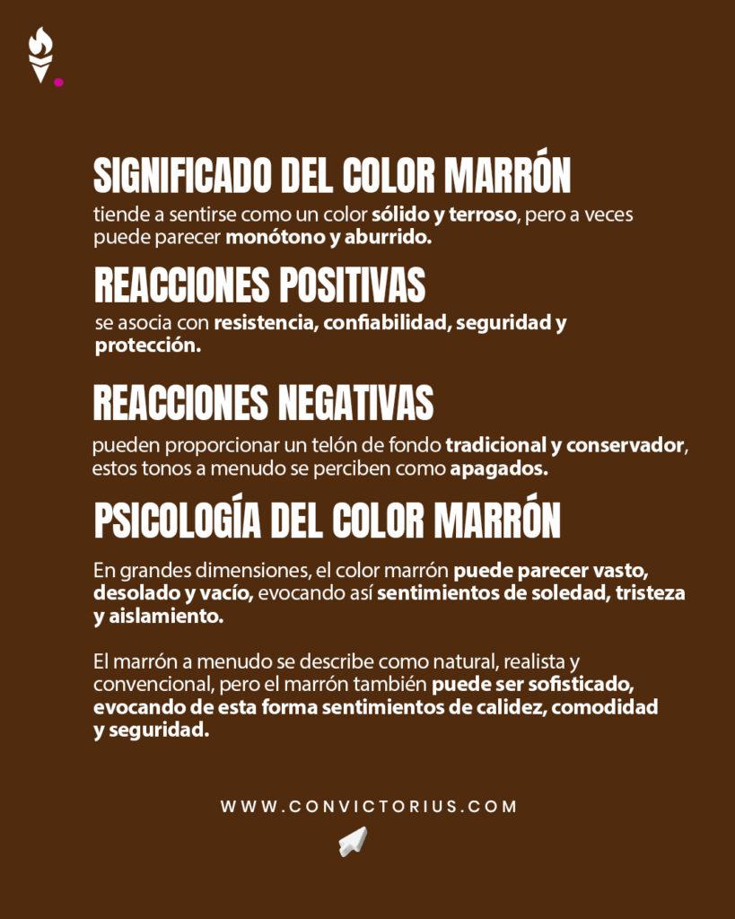 Infografía del color marrón