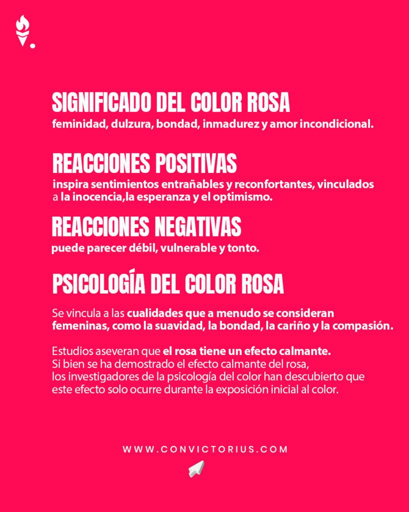 Infografía del color rosa