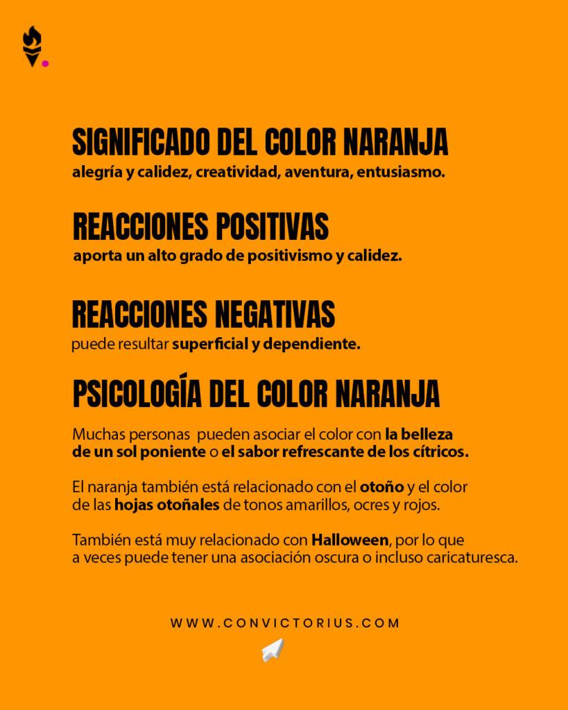 Infografía del color naranja