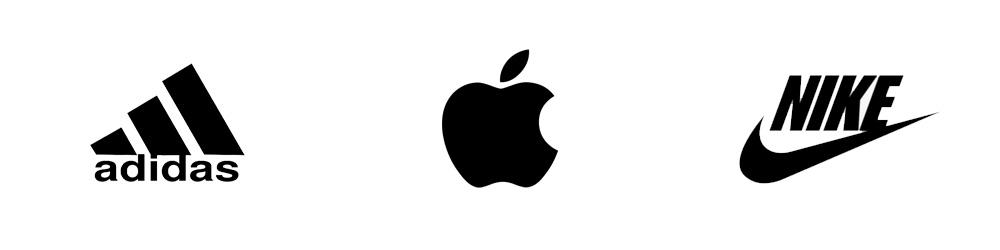Logotipos: Adidas, Apple, Nike